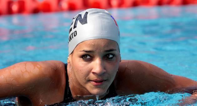 Andreína Pinto logró este sábado dos doradas para Venezuela.